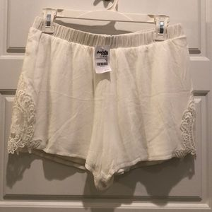 Brand New White Lace Shorts